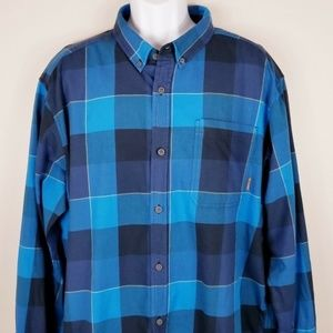 Columbia Cotton Twill Plaid Shirt Button Down